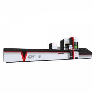 Máy Cắt CNC Laser Fiber Kim Loại Ống Elip-700W